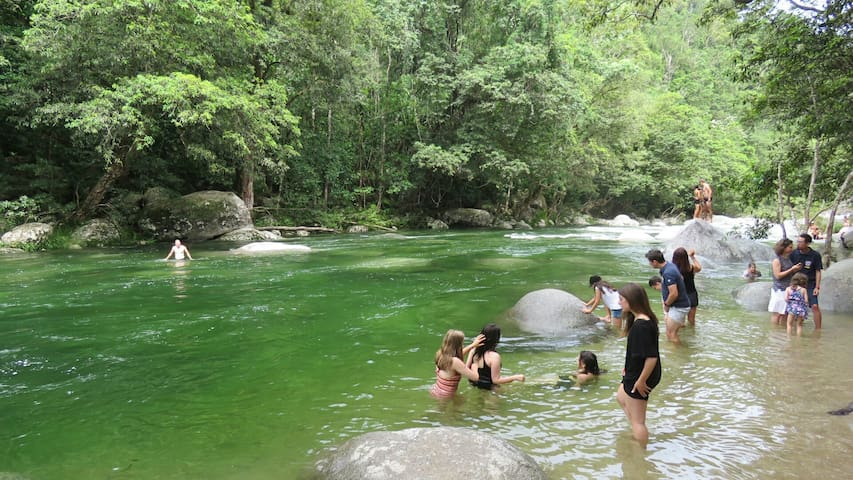 Enjoy Mossman Gorge 15 minutes away.
