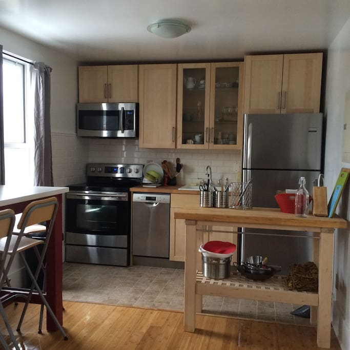fully renovated kitchen, with microwave and dishwasher