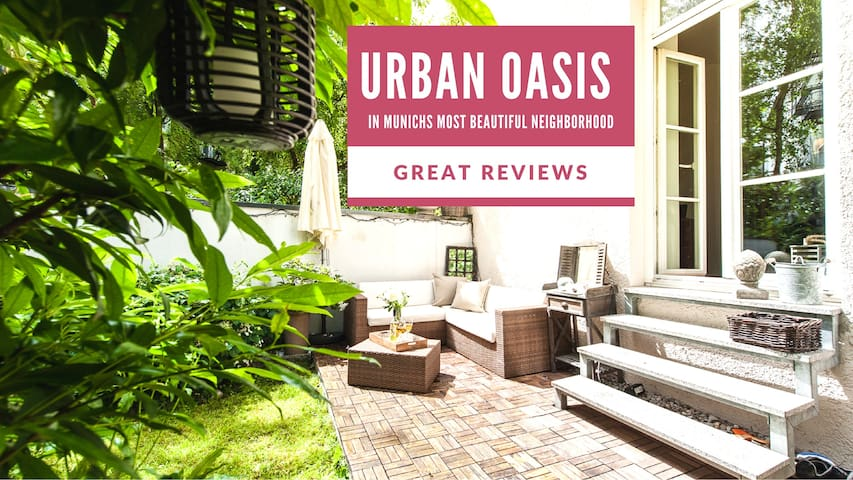 Urban Oasis in Prime Location With Lovely Garden - München - Huoneisto