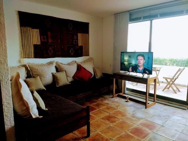 Living room 2 single beds / sofa