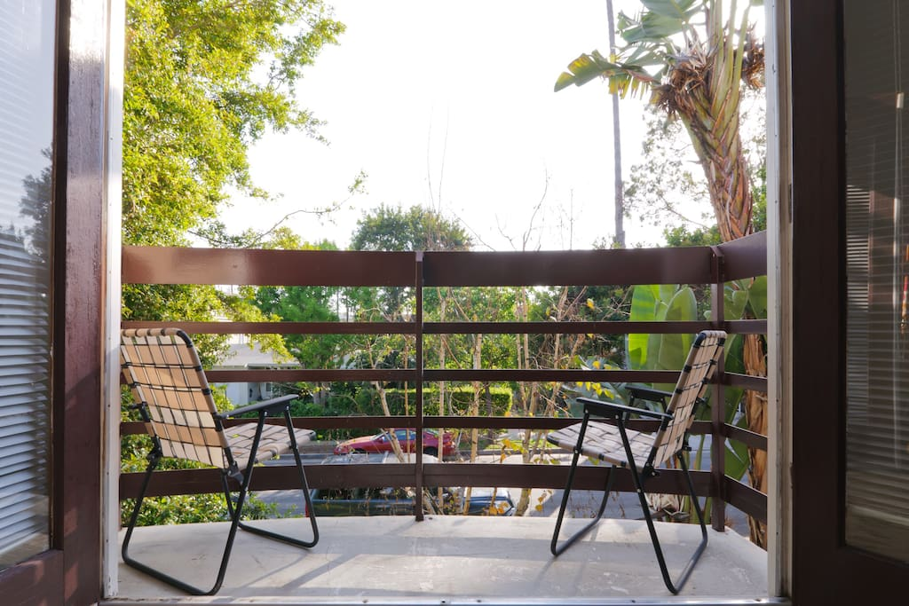 private balcony overlooking the beautiful garden/lawn/wildlife