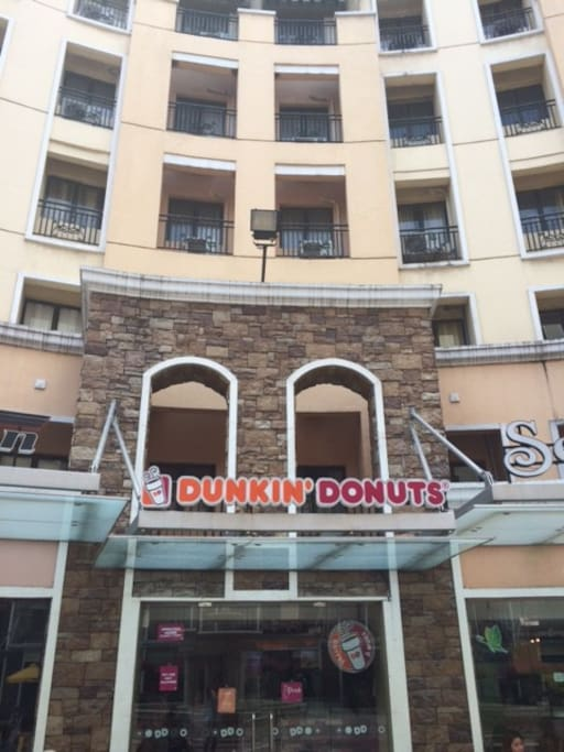 Condo is right above Dunkin Donuts. Love those little munchkins.
