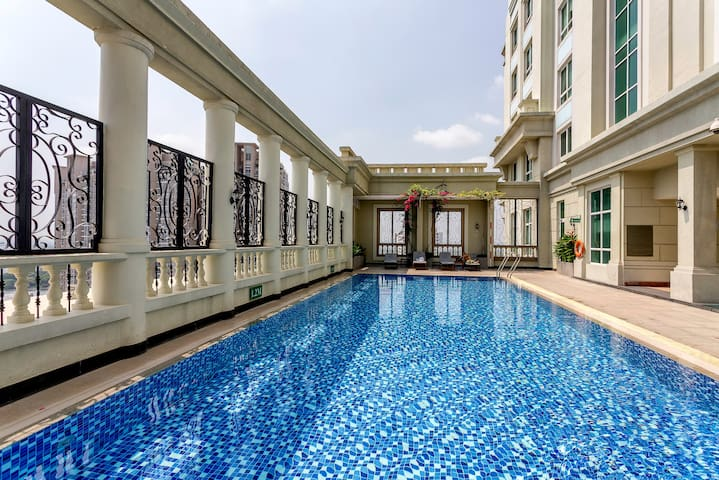 Center 1BR Apart+RooftopPool - Ho Chi Minh City - Daire