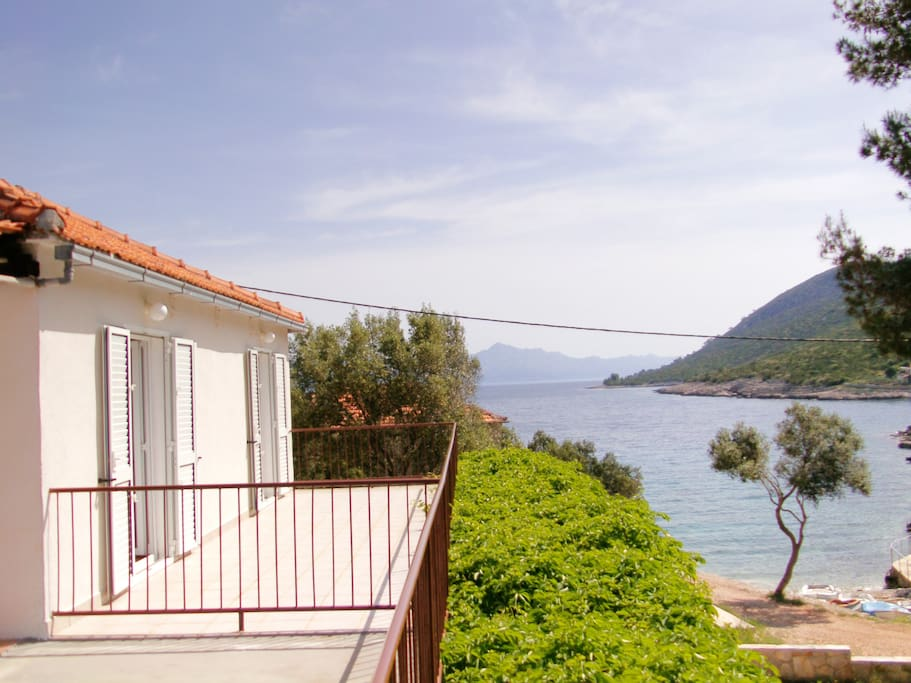 Terrace and sea view