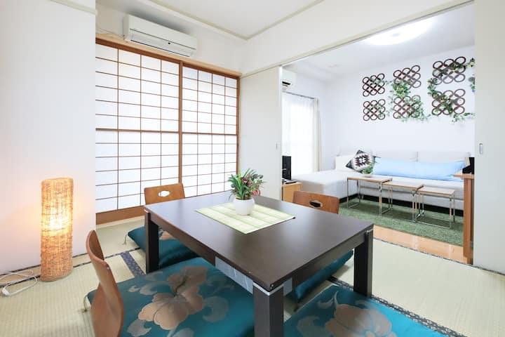 民泊許可の部屋 名古屋ドームに近く、名古屋へもJR、地下鉄ですぐ行ける。