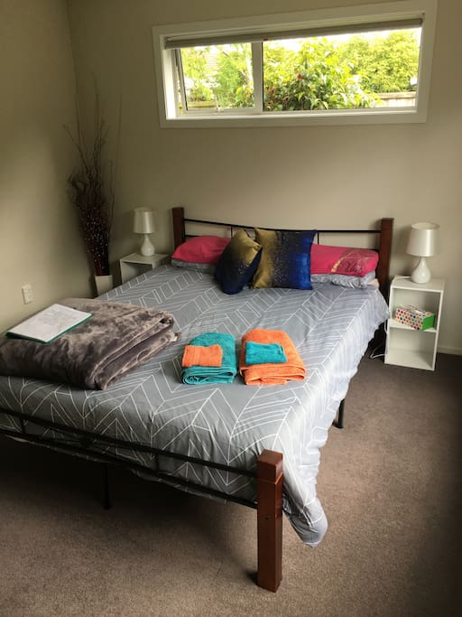 Comfortable and roomy queen room