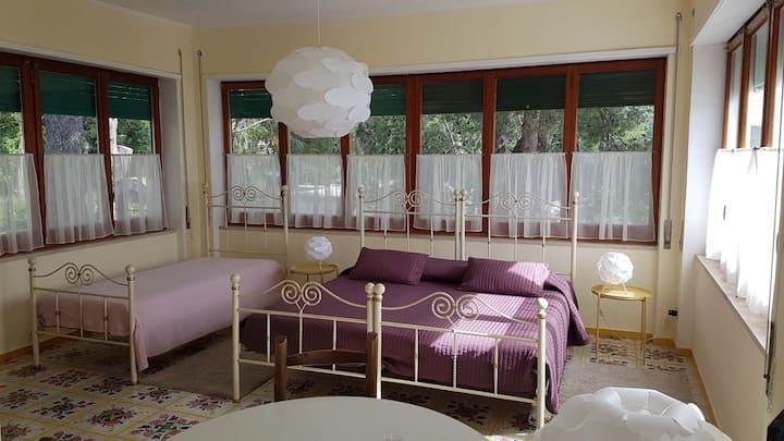Rooms in Villa in Capri  Il Rifugio-Caleidoscopio