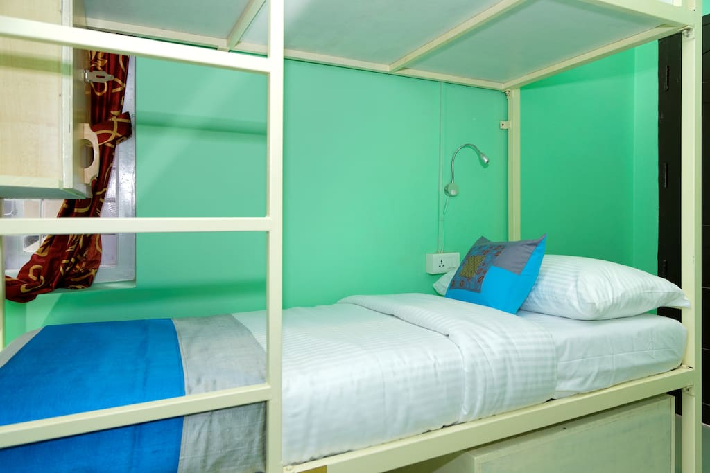 All beds have spacious lockers for your backpack and bed side storage for your valuables