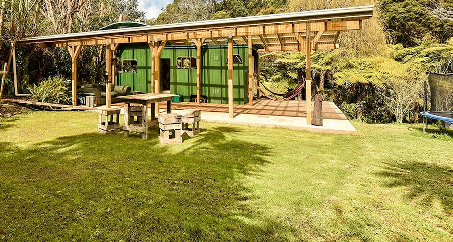 Middle Earth Magic Bus in native bush - sleeps 4!
