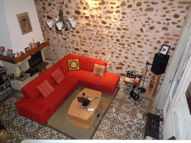 Maison de village 140m2 avec garage - Banyuls-dels-Aspres - Townhouse