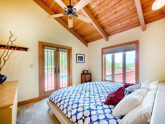 Bedroom #4. King bed, main floor.