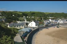 Pendine village view from cliff