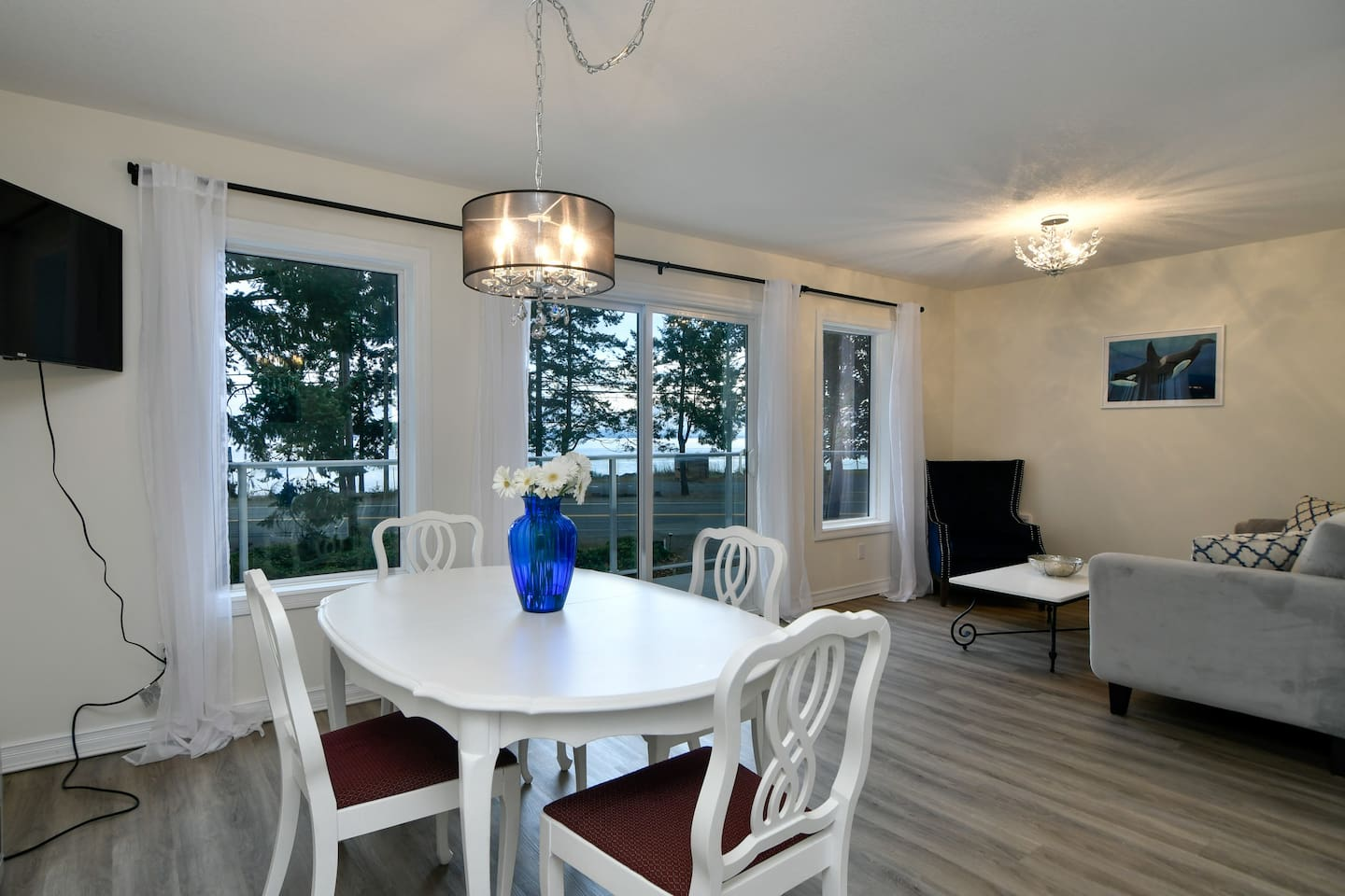 Main open concept space with ocean view