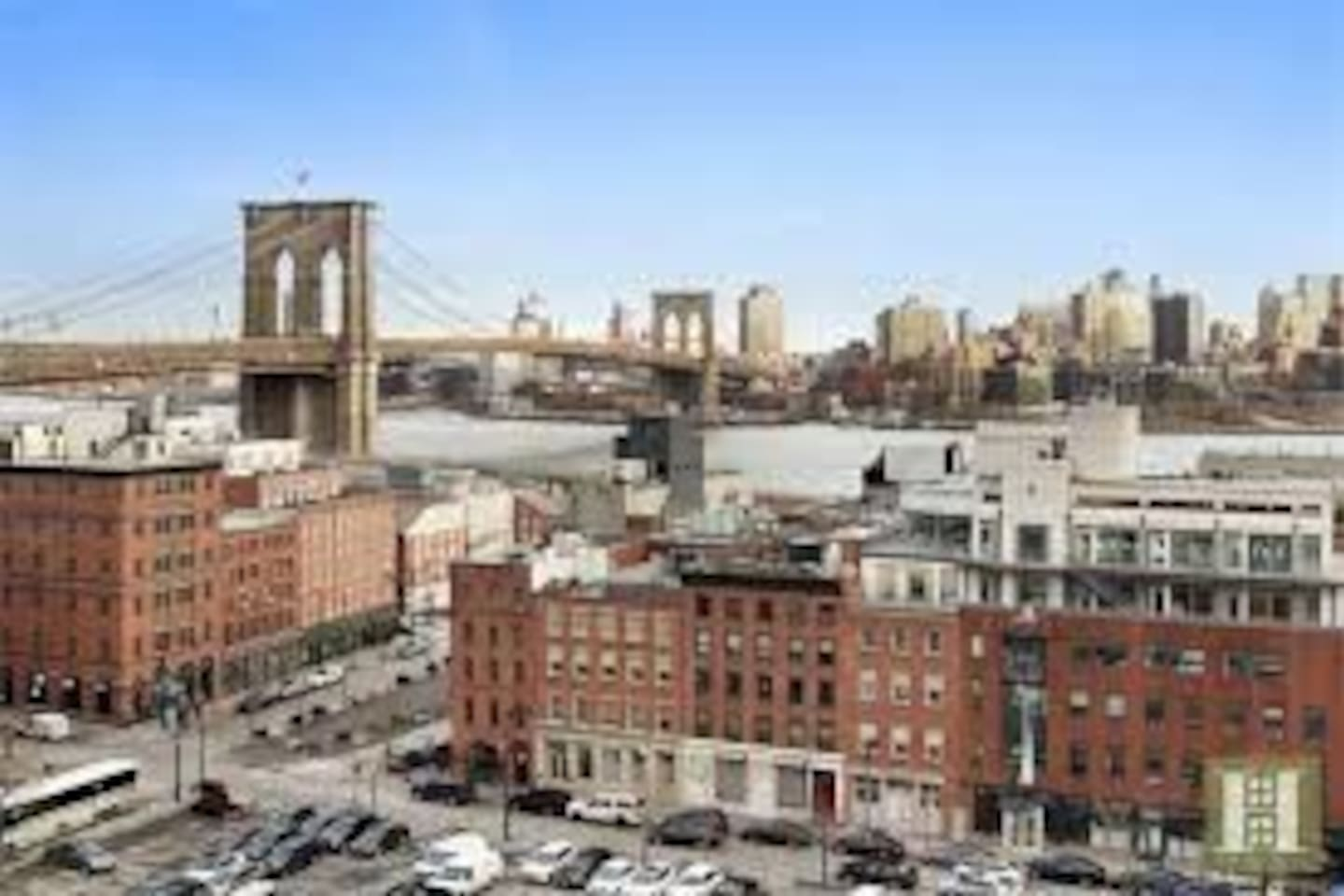 In the heart of old South Street Seaport, walking distance to bars, restaurants, 8 subway lines, and the walking path to the Brooklyn Bridge