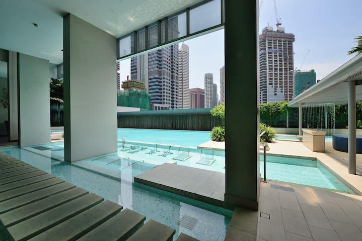 Amoy Street One bedroom Apt 28 @ CBD - Singapura