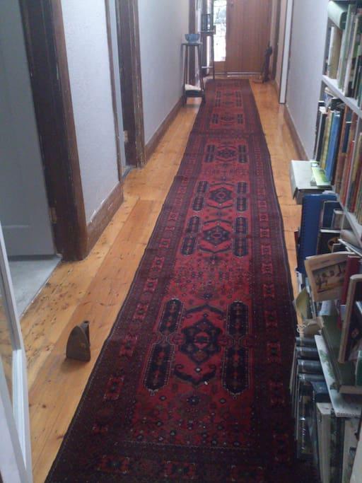 spacious central hallway