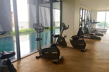 Gym room on 8th floor