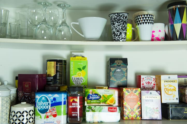 Tea and coffee collection. Treat yourself but use it with respect