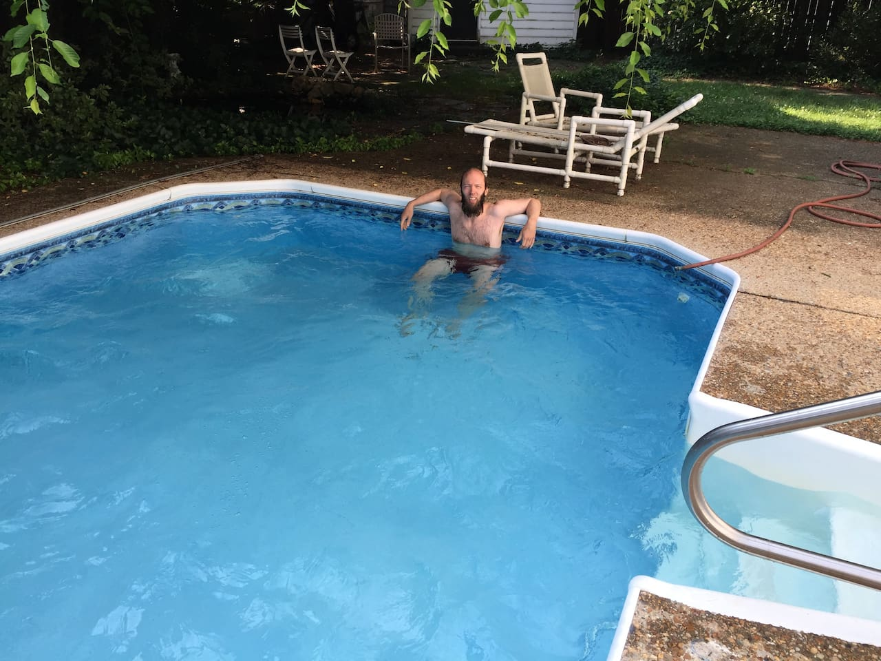 In ground professionally maintained pool