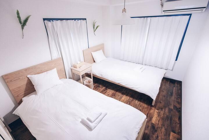 日暮里Nippori 501 高级2卧室 套房公寓 徒步5分钟 设计师房源 免费WiFi