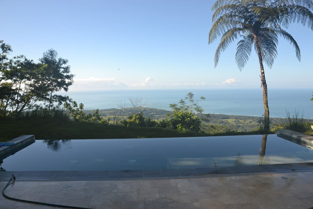 Infinity Pool with Views of Whale's Tail all the way to the Osa