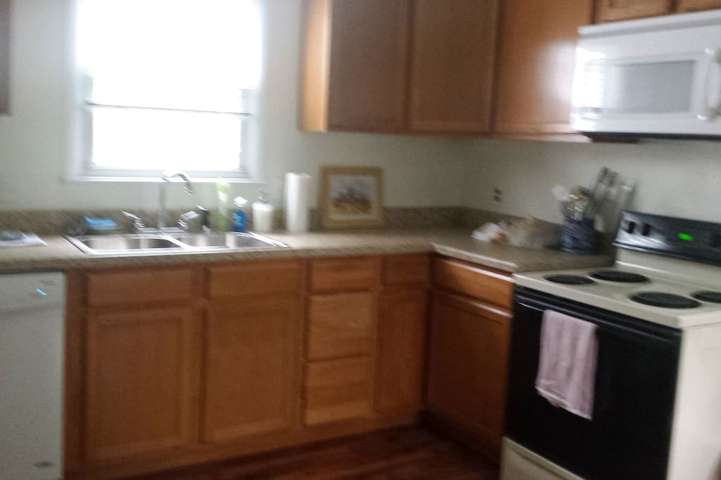 Fully equiped kitchen with dish washer and garbage disposal.