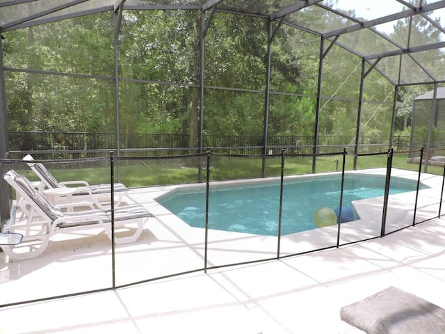 Your private pool with Conservation view. Child safety fence can be removed.