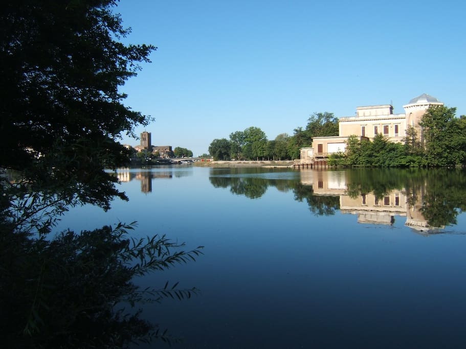 Agde on the river Herault