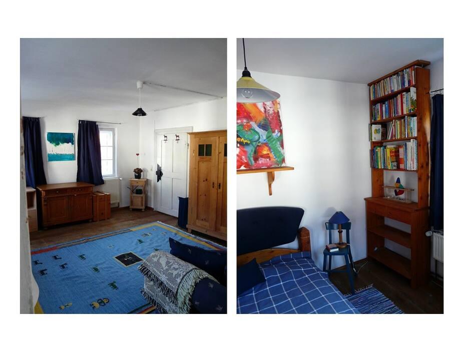 Zimmeransicht des vorderen und hinteren Zimmers