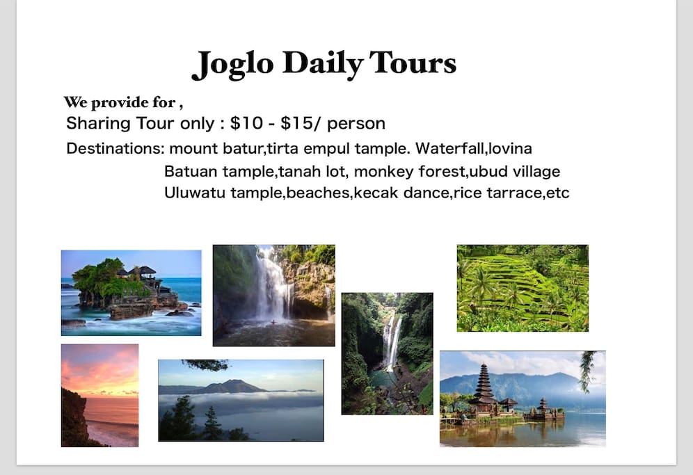 Our special offer!!! Daily Tour