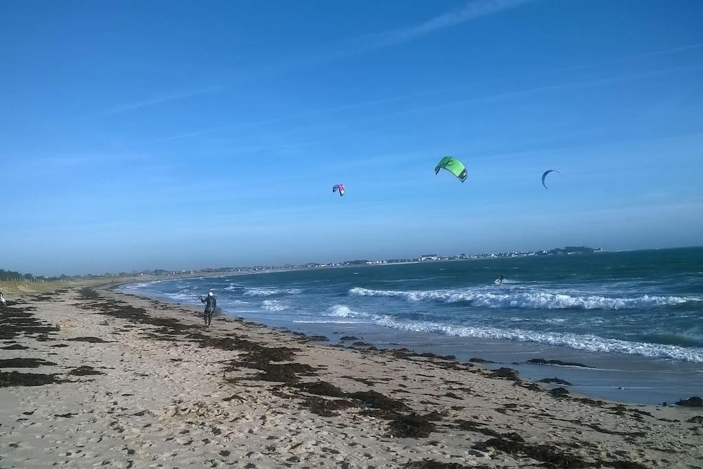 Grande plage de sable !