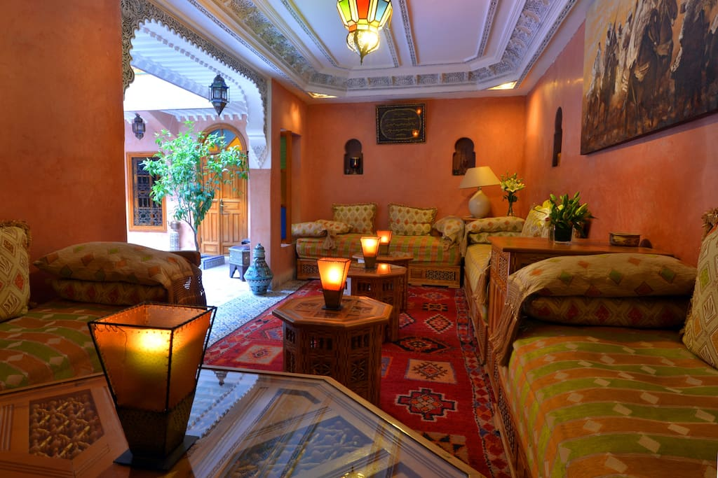 Chambre zayane bed and breakfasts for rent in marrakech for Airbnb marrakech
