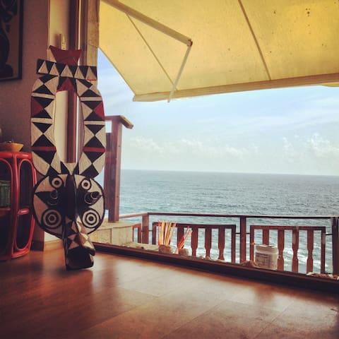 Cozy Beach Studio w Awesome Terrace