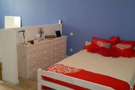 Chambre bleue pour 1 ou 2 personnes - Châteauneuf-sur-Isère