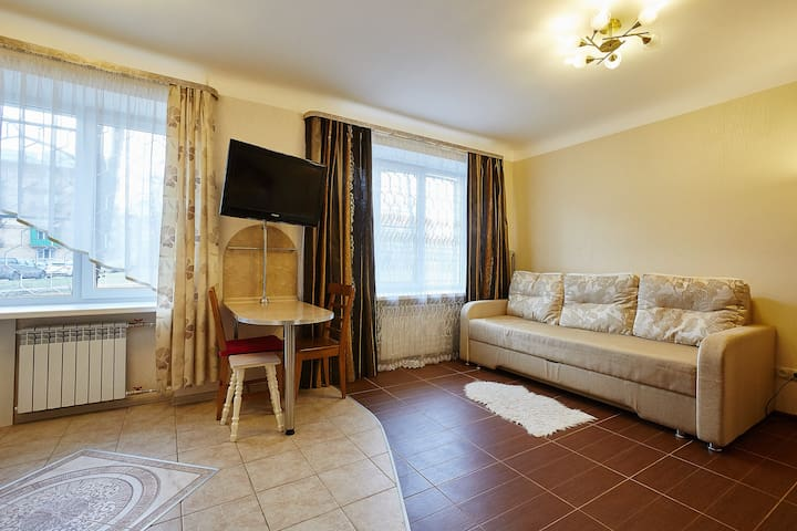Квартира-студия рядом с Невой