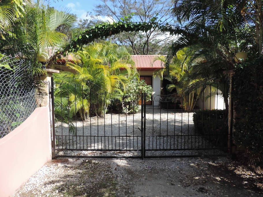 Locked gate lets you control the access to the Villa.
