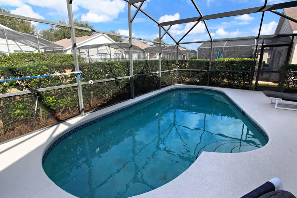 This sparkling clear pool will be a great place for you and your family to make hundreds of happy memories when you staty in this Walt Disney World® Resort area vacation home.