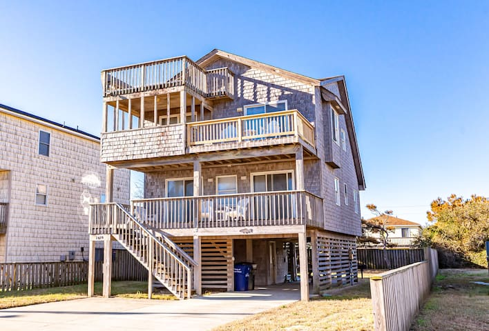 K1124 Seagrove View. Nags Head, MP 10.5, OCEANSIDE, 800 FT to the BEACH | 4 Bedroom, 2 Bathroom