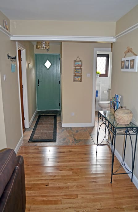Open plan hallway and lounge makes Edith Cottage light and airy family-friendly accommodation