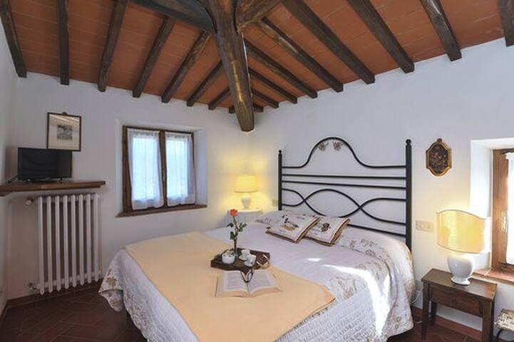 Camera con letto matrimoniale che all'occorrenza possono diventare due letti singoli.