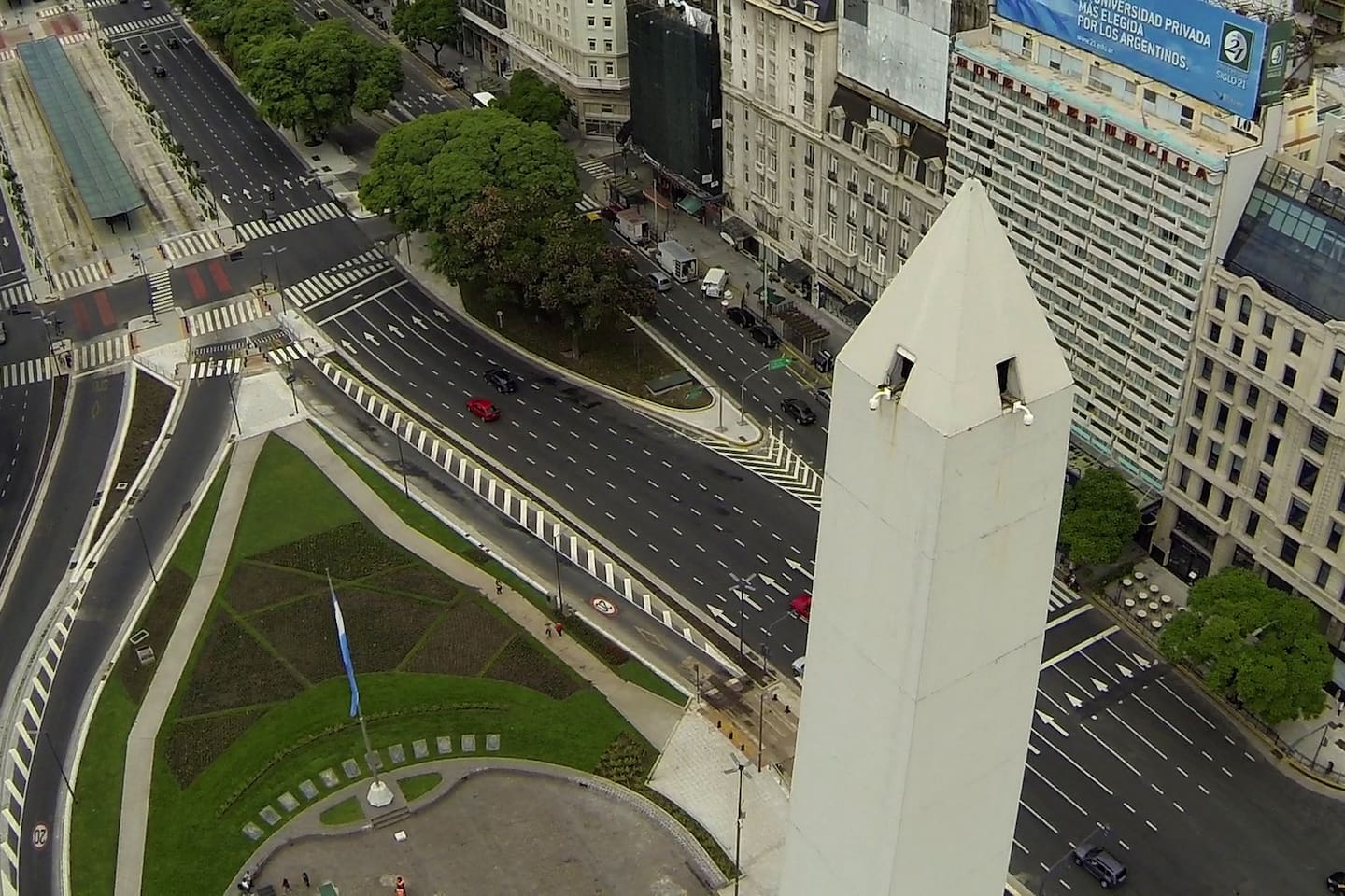 """An unique shot from the """"Obelisco"""" and city centre. Picture taken by a drone!"""