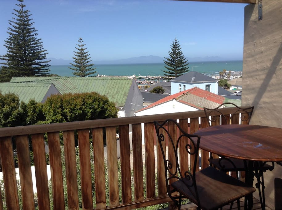 Front Balcony off bedroom with table and chairs With sea view for early morning coffee