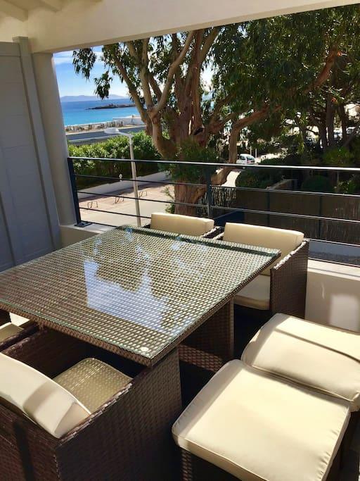 La terrasse côté mer