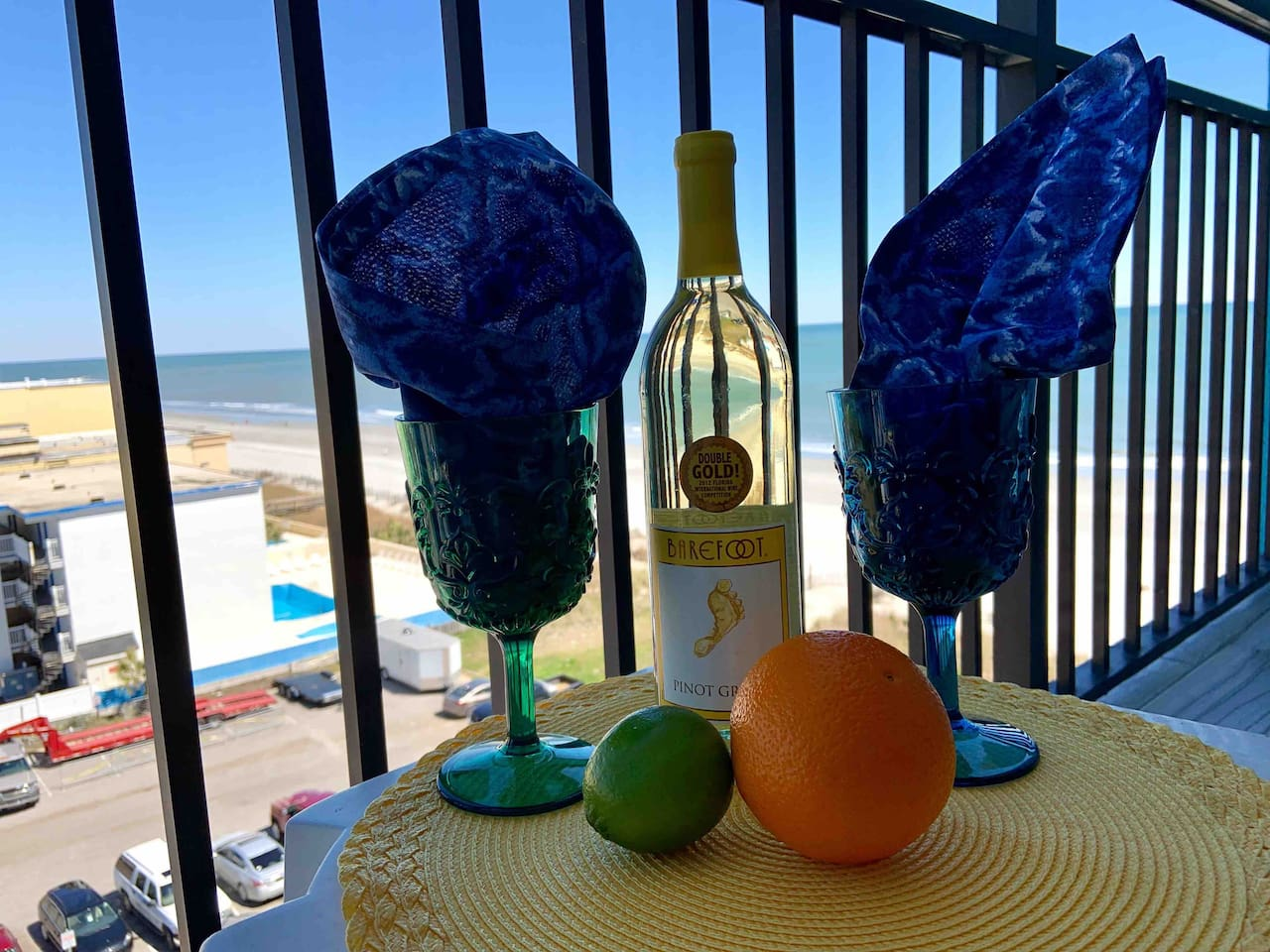 Pour yourself a glass of chilled wine...Sit back and enjoy  stunning views of the Atlantic Ocean from your private balcony.