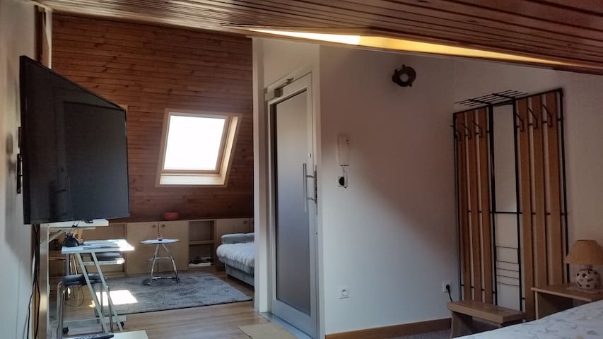 Bright studio in terraced house, free WiFi&parking