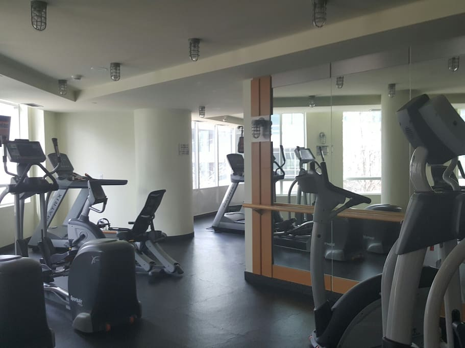 Gym available 5am - 12pm