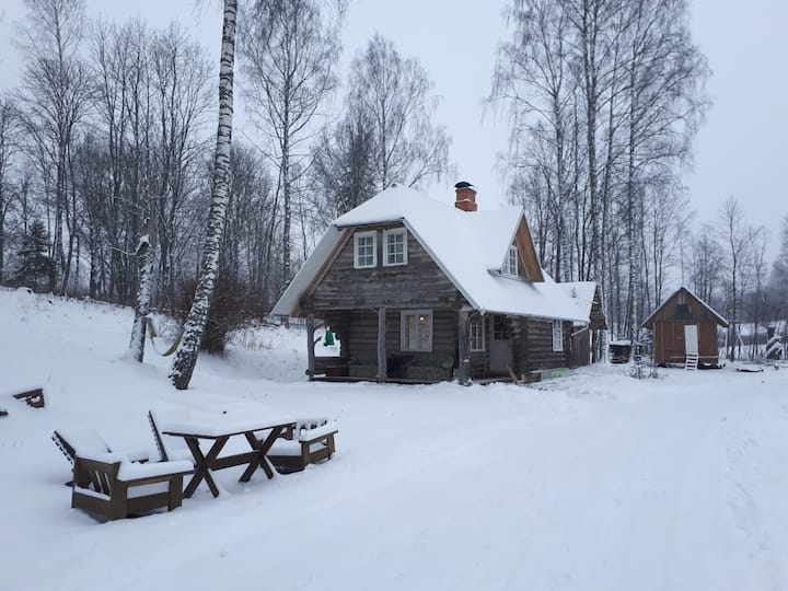 Otepää cozy log house with sauna
