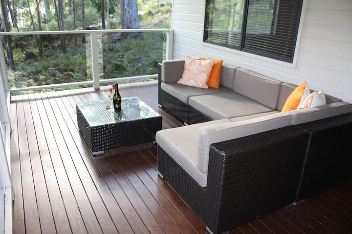 Covered outdoor casual area