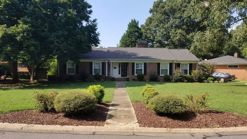 Front- Quite road, huge front yard, plenty of parking as well. Includes security system.