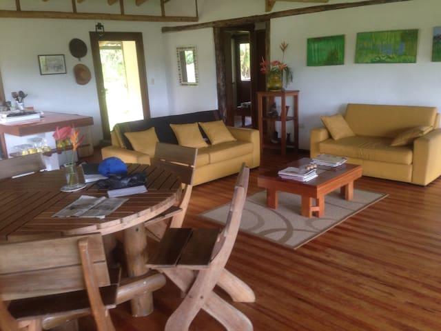 Cabaña de montaña. Macas-Parque Nacional Sangay